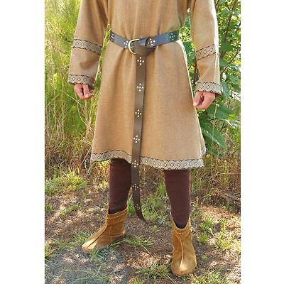 A Medieval Leather Long Belt Perfect For Re-enactment Stage & LARP - SALE