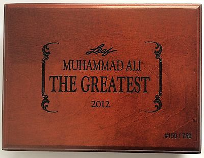 Muhammed Ali Leaf The Greatest 2012 Empty Box Case 159/750