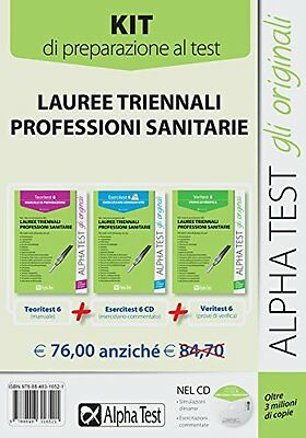 AlphaTest Professioni Sanitarie: MANUALE + ESERCIZI + PROVE (Kit con Software)