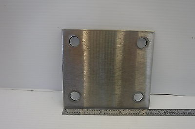 "Stainless Steel Plate 4"" X 4-1/2"" W/ 1/2"" Holes"