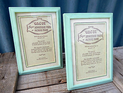 Vintage Antique Pair 1930s Photo Picture Frames - 6x4 Made in England Art Deco