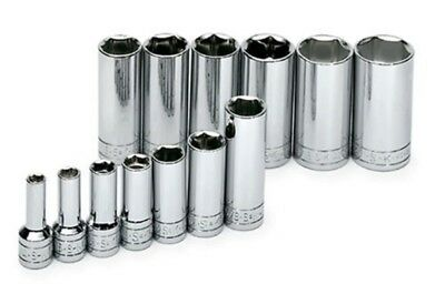 """SK HAND TOOLS 4413 13 Piece 3/8-Inch Drive 6 Point 1/4 to 1""""  Deep Socket Set"""