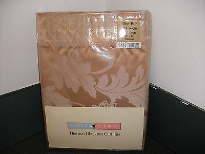 `46 x 54 Thermal Blackout Curtains Pencil Pleat
