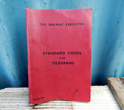 Standard Codes for Telegrams 1950 Booklet The Railway Executive British Rail