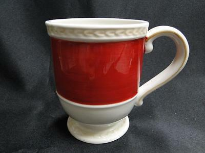 Fitz & Floyd Town and Country, Red Band: Mug 4 1/2""