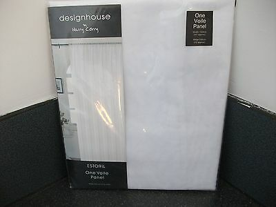 55x72 voile panel curtain in white
