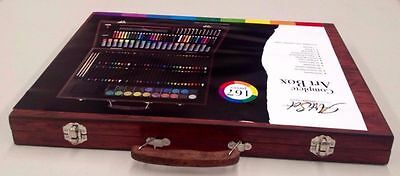 167 Pieces Complete Drawing Colouring Pencils Water Paint Art Box Set Fun
