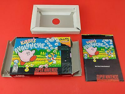 Kirby's Avalanche [Box + Manual Only] (Super Nintendo SNES)