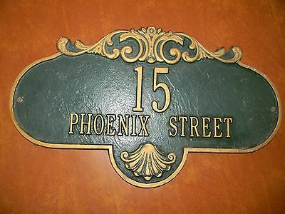 Vintage Street and house # Plaque sign  15 phoenix street