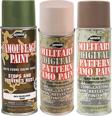 Camouflage Digital Pattern Military Spray Paint Can 12 Oz - 4 PACK