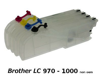 Brother LC970 LC1000 XL - 4 x Cartouches Rechargeables non-oem★★★
