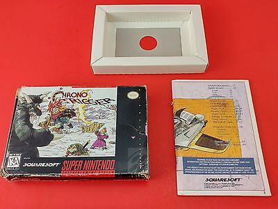 Chrono Trigger [Box + Manual + Insert Only] (Super Nintendo SNES)