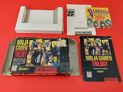 Ninja Gaiden Trilogy [Box + Manual + Inserts Only] (Super Nintendo SNES)