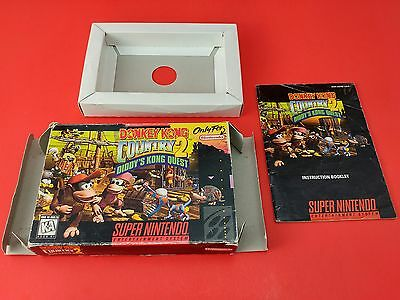 Donkey Kong Country 2 [Box + Manual + Insert Only] (Super Nintendo SNES)