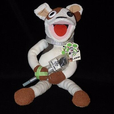 """Pets.com Dog Sock Puppet With Microphone 19"""" Tall With Tags"""