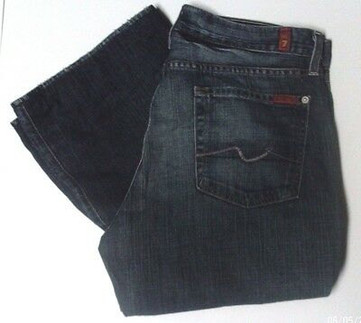 7 For All Man Kind Woman's Size 33 Relaxed Made In USA Button Fly Very Nice