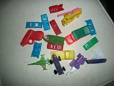 Cereal Cars Etc And Other Old Plastics
