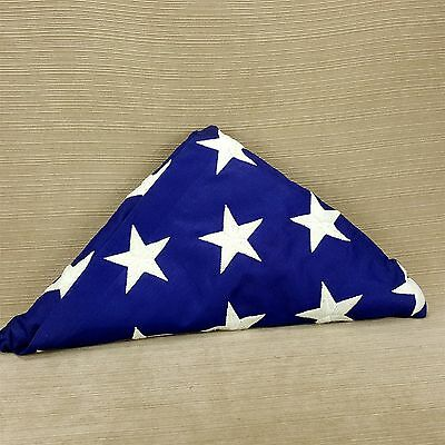USA American Military Burial Funeral Flag Folded Valley Forge BEST Cotton 5 x 9'