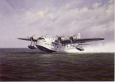 Short Brothers Shorts empire flying boat S 30 Cabot Rochester art card Imperial