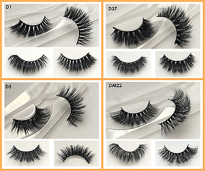 100% 3D Mink High Quality Thick Strip False Lashes UK - Lilly Ghalichi Looks