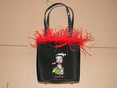Betty Boop Purse Christmas Present with Red Boa