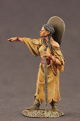 tin toy painted soldiers 54mm indian girl