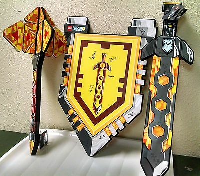 Lego Nexo Knights Foam Weapon Set Clay's Sword, Macy's Mace &  Knight's Shield