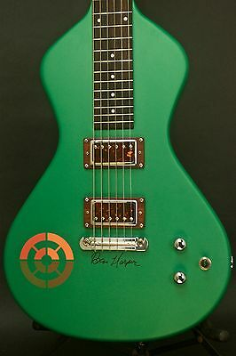 Asher *Signed BHIC Ben Harper Limited Edition 2016 Rasta Green Lap Steel Guitar