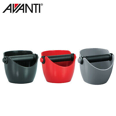NEW AVANTI COFFEE KNOCK BOX Bin Espresso Grinds Tamper Waste Tamp Tube Grind
