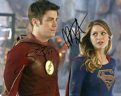 The Flash & Supergirl Glossy Print - Signed By Melissa Benoist & Grant Gustin