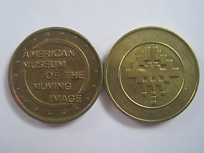 American Museum Of The Moving Image Astoria New York Lot Of 2 Token Coin
