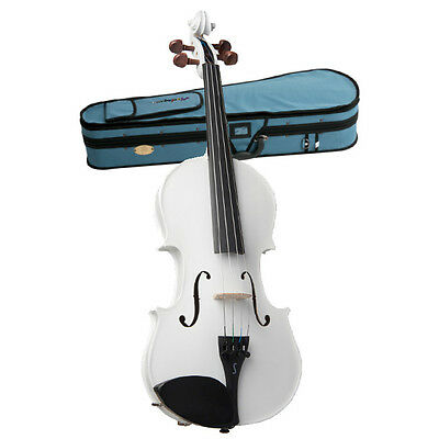 STENTOR - Harlequin Series. 4/4 violin outfit. Metallic White.