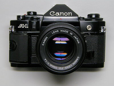 Excellent Canon A-1 w/ 1.4/50 outstanding Canon Lens FD 50mm 1:1.4