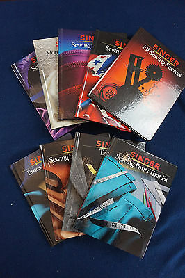 Lot of 9 Singer Sewing Reference Library books