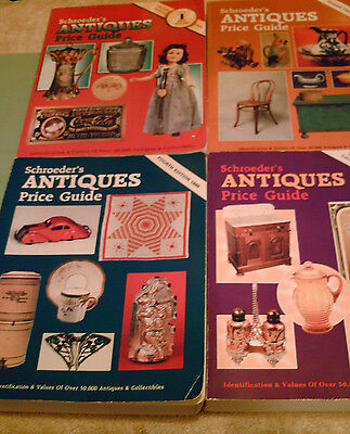 VINTAGE Set Of 4 Schroeder's Antiques Price Guide Fourth Twelfth Tenth & Third