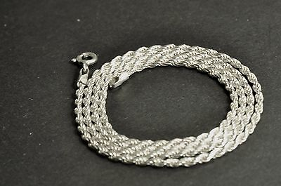 vintage sterling silver single chain /necklace