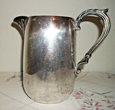 Vintage Sheridan Silverplate Water Pitcher with Ice Lip - 1960's