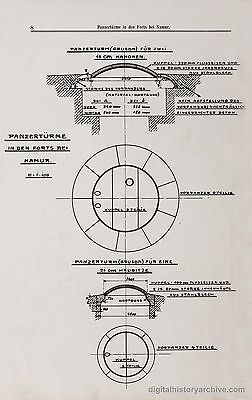 WWI Study of Artillery Attacks on Belgium & French Fortifications, 1914