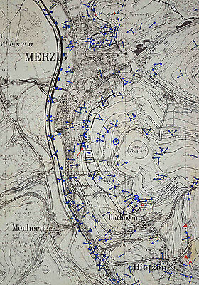 WWII German Army Westwall (Siegfried Line) Maps 1940