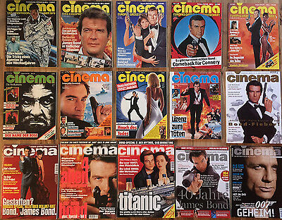 15 German Cinema Movie Magazine Collection - All James Bond 007 Issues 1979-2008