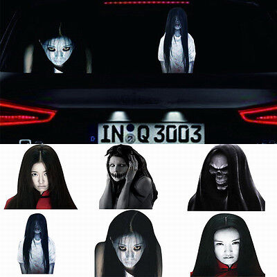 1pcs Horrible Rear Window Vehicle Graphic Stickers  for high-beam warning