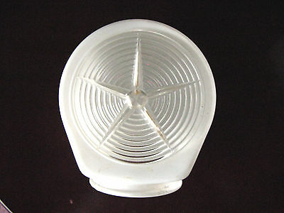 Vintage Art Deco Starburst/Prismatic Milk Glass Wall Light/Sconce Shade