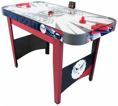 Air Hockey Table 4ft Game Powered Sports Red Electronic Pusher Puck Indoor NEW