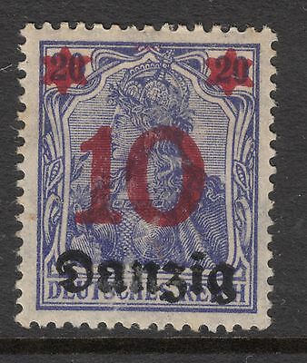 DANZIG 1920 10 pfg Overprint Mint Hinged