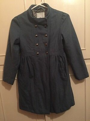 Unique Blue Winter Coat Girls 9-10 Years