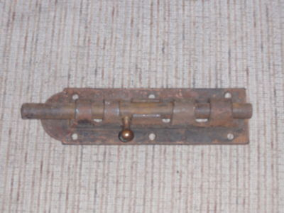 Primitive / Vintage All Metal Dead Bolt Latch