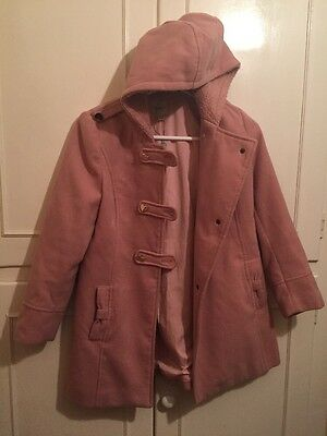 Pink Hooded Winter Coat Jacket By Yumi Girls Age 11/12