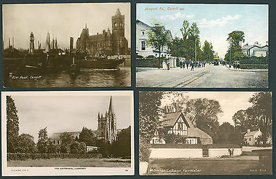 4 cards of Cardiff . GLAMORGAN.