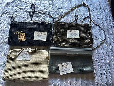 Glomesh 4 Evening Bags 1983 With Original Purchase Cards