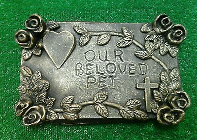 Large Pet Memorial/headstone/stone/grave marker/memorial black gold